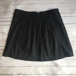 J. Crew black wool skirt